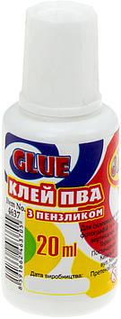 """Клей ПВА """"Class"""" №4637 20мл з пензликом(90)"""