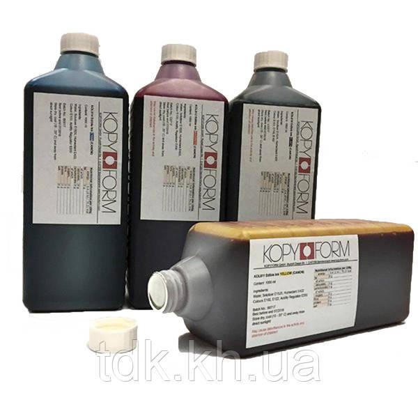 Харчові чорнила Kopyform комплект 4 кольори 4х1л