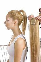 Хвост прицепной на ленте хвост накладной шиньен шиньон волосы хвостик