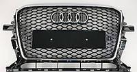 Решетка радиатора тюнинг Audi Q5 (12-17) стиль RSQ5 (хром рамка)