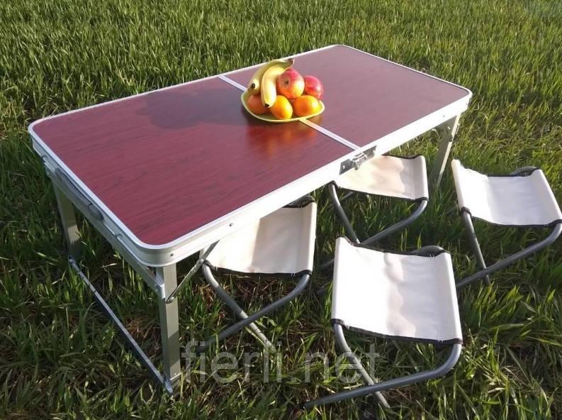 Стол складной туристический для пикника c 4 стульями  Raiberg RB-9300