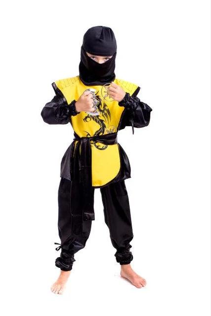 Новогодний костюм Ниндзя желтого цвета