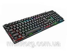 Клавиатура REAL-EL Comfort 7011 Backlit USB игровая с подсветкой
