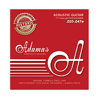 Струны для акустической гитары Adamas фосфор-бронза (extra light 010-047)