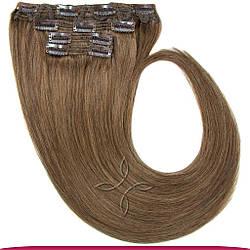 Натуральне Європейське Волосся на Заколках 40 см 110 грам, Русявий №10
