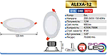 Alexa-12 Вт встраиваемый светодиодный светильник, фото 2