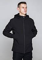 Демисезонная куртка мужская черная от бренда ТУР модель Центурион (Cеnturion)
