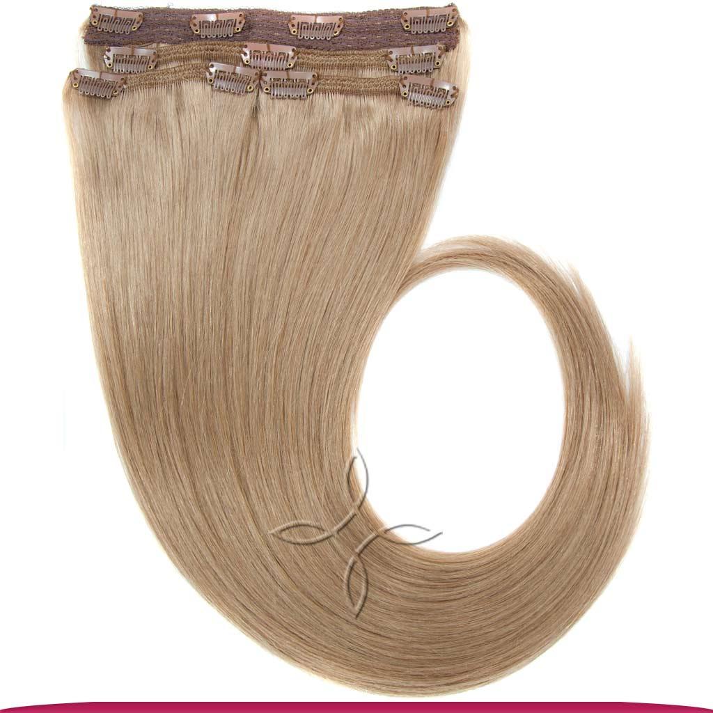 Натуральные Европейские Волосы на Заколках 40 см 120 грамм, Светло-Русый №18