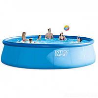 Надувной семейный бассейн Intex SUPER-TOUGH 3X-прочность 549х122 см с эффектом мозаики