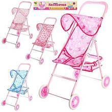 KM881 Коляска   для куклы, прогулочная, корзина, колеса 4шт 11см,48-33-64см,в кульке, 60-32-7см