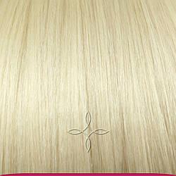 Натуральне Європейське Волосся на Заколках 40 см 110 грам, Блонд №60