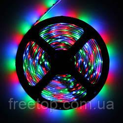 Светодиодная LED лента 3528 RGB Все цвета 12V цветная 5метров + пульт + блок