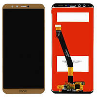 Дисплей модуль Huawei Honor 9 Lite в зборі з тачскріном, золотистий, Original, AL00/AL10/TL10