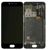 Дисплей модуль для Meizu Pro 6/Pro 6s в зборі з тачскріном, чорний, з рамкою, TFT