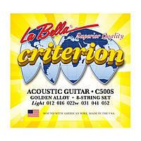 Струны для акустической гитары La Bella C500S 12-52 Bronze 80/20