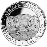"""Слон - серия """"Африканская живая Природа"""" 31,1 грамм, 2020"""