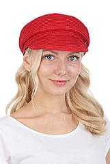 Кепка картуз летняя женская красная