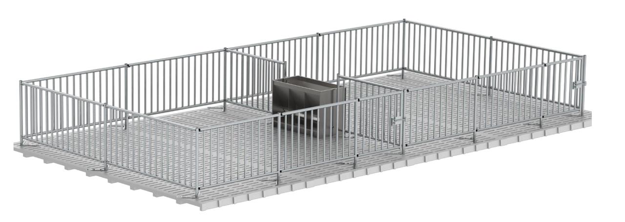 Ограждение для свиней высота 1,5 м, 12,5 см // клетка для свиней