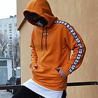 Худи спортивное мужское Адидас (Adidas) оранжевое подростковое