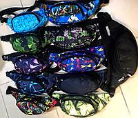 Женские и мужские сумки на пояс, бананки с узорами на 2 змейки