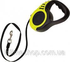 🔝Повідець рулетка для собак Retractable Dog Leash SJ-188-5M, чорно-жовтий, поводок для собак 5 метрів