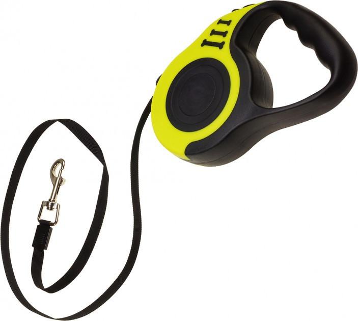 Поводок рулетка для собак Retractable Dog Leash SJ-188-5M, черно-желтый, поводок для собак 5 метров (ST)