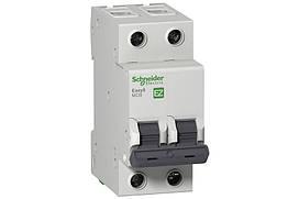 Автоматический выключатель Schneider Electric EASY 9 2П 16А С 4,5кА 230В EZ9F34216 055165, КОД: 1802105