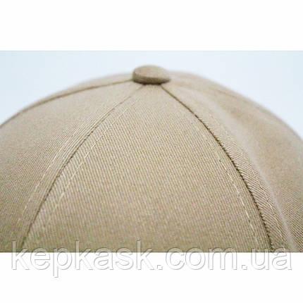 Бейсболка котон пісочна FILA (ТКАНИНА-ДІАГОНАЛЬ), фото 2