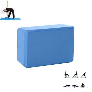 Блок для фитнеса йоги Dobetters LS Blue 23*15*7.5 см кирпич опорный йога-блок кубик для упражнений