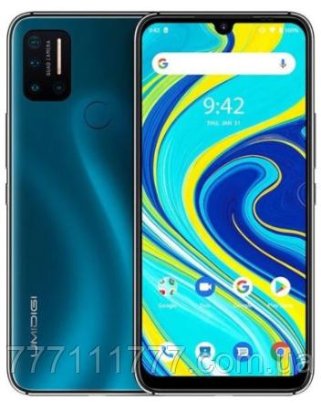 Смартфон з великим дисплеєм і батареєю великої ємності на 2 сім карти Umidigi A7 Pro 4/64Gb blue