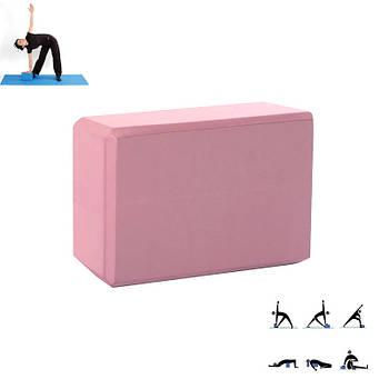 Блок для фитнеса йоги Dobetters LS Pink 23*15*7.5 см кирпич опорный йога-блок кубик для упражнений