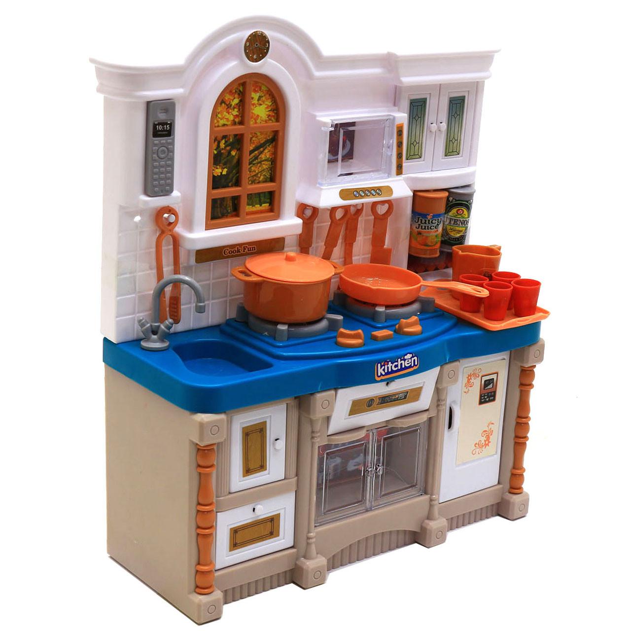 Детская игрушечная мебель Cook для кукол Барби Кухня со световыми и звуковыми эффектами (3022)