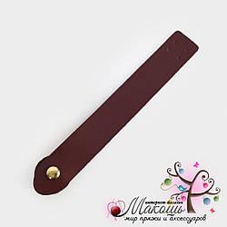 Клапан для сумки на магнитной кнопке (эко-кожа), бордо