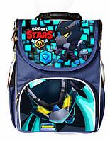Ранец школьный каркасный рюкзак детский ортопедический Бравл Старс Ворон Grow skin