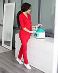 Красный женский костюм врача на запах, фото 5