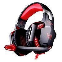 Наушники игровые с подсветкой и микрофоном Kotion Each G2000 Red Black