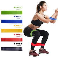 Набор резинок-эспандеров для фитнеса 5 штук Latex Band