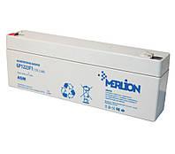 Аккумулятор для ИБП 12В 2.3Ач AGM Merlion GP1223F1 / 12V 2.3Ah / 178х35х67 мм