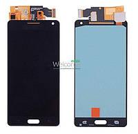 Модуль Samsung SM-A500H Galaxy A5 black с регулируемой подсветкой дисплей экран, сенсор тач скрин самсунг