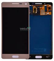Модуль Samsung SM-A500H Galaxy A5 gold с регулируемой подсветкой дисплей экран, сенсор тач скрин самсунг