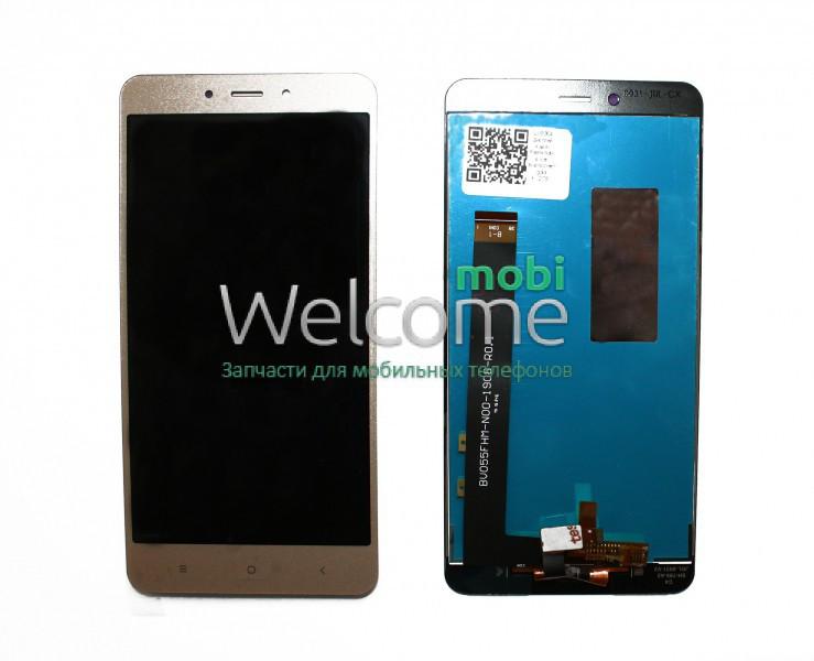Модуль Xiaomi Redmi Note 4/Note 4 Pro gold, дисплей экран, сенсор тач скрин сяоми ксиоми