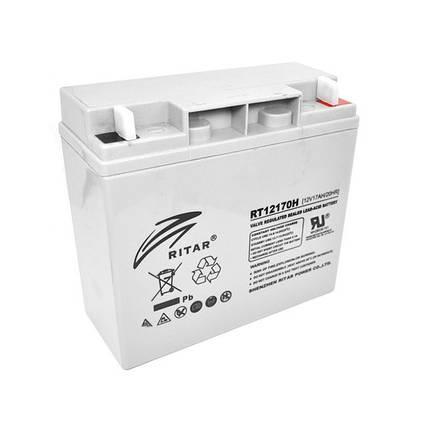 Аккумулятор для ИБП 12В 17Ач AGM Ritar RT12170H / 12V 17.0Ah / 181х77х167 мм, фото 2