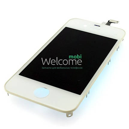 Модуль iPhone 4 с рамкой white дисплей экран, сенсор тач скрин Айфон, фото 2