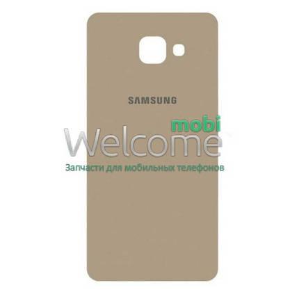 Задняя крышка Samsung A710F Galaxy 7 (2016) gold orig, сменная панель самсунг а7, фото 2