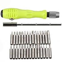 Набор инструментов для ремонта мобильных телефонов из 30 насадок Aisilin 7389 Зеленый 100105, КОД: 1455506