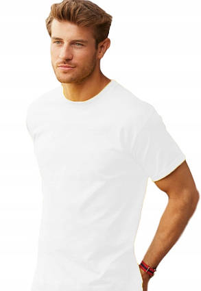 Легкая белая мужская футболка «Fruit of the Loom», фото 2