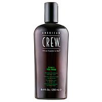 Шампунь American Crew 3-IN-1 Tea Tree Чайное Дерево 250 мл