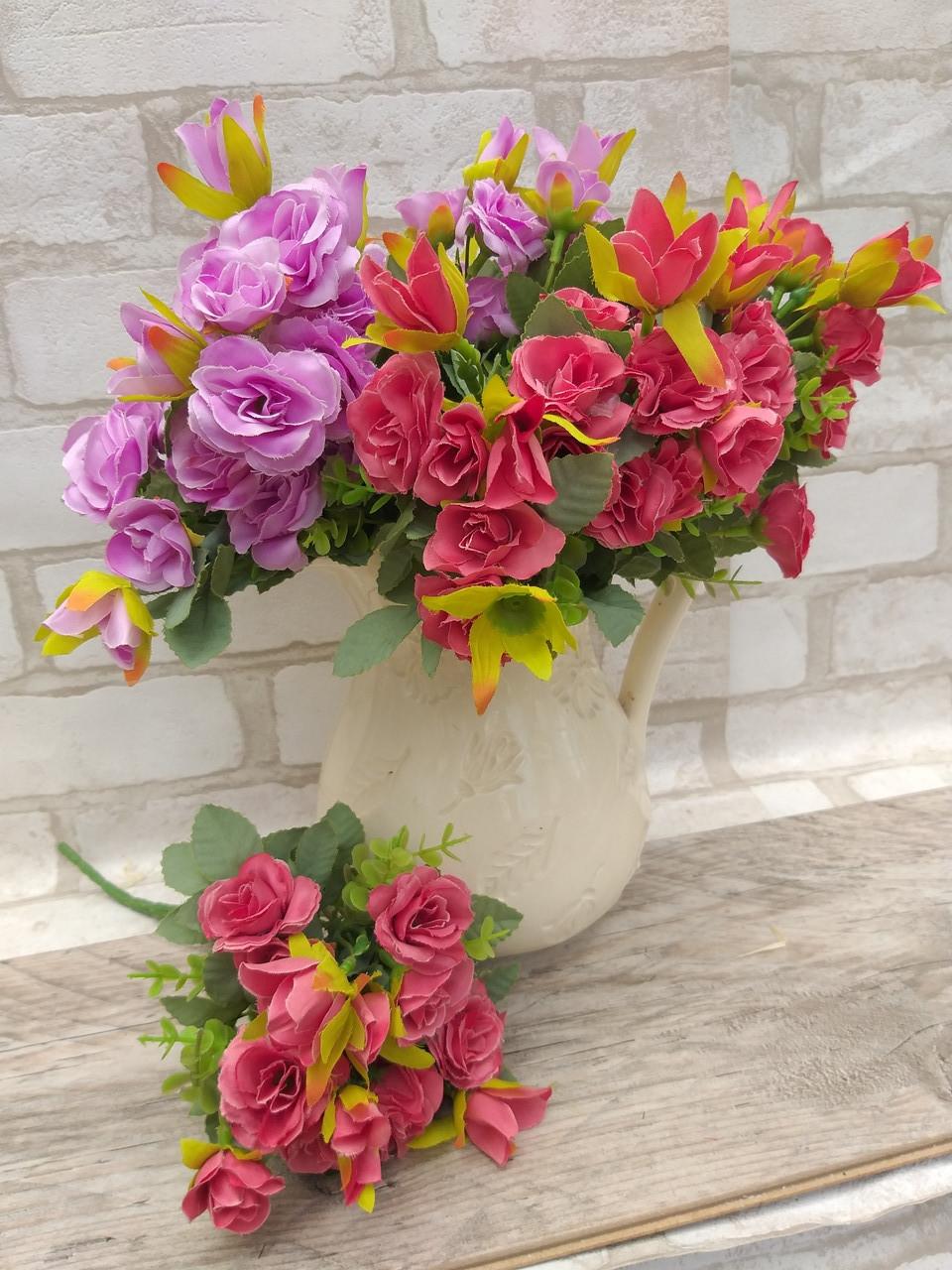 Троянда прованс в 2-х кольорах h-31см, 55/45 (цена за 1 шт. + 10 гр.)