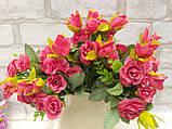 Троянда прованс в 2-х кольорах h-31см, 55/45 (цена за 1 шт. + 10 гр.), фото 3