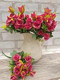 Троянда прованс в 2-х кольорах h-31см, 55/45 (цена за 1 шт. + 10 гр.), фото 5